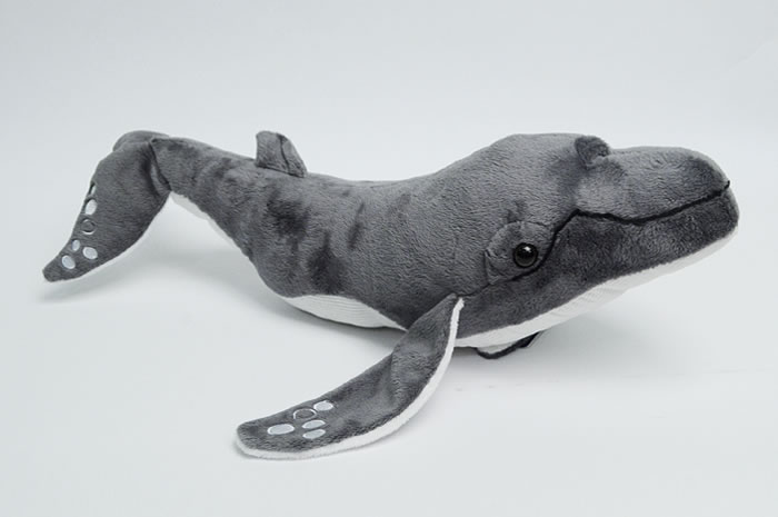 Humpback Whale Plush with 2 Anatomically Correct Blowholes
